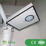 8W indicatore luminoso di via solare dell'alloggiamento di alluminio LED 120lm/W