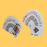 Póquer feito sob encomenda preto dos cartões de jogo do papel de núcleo