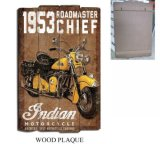 Pitture d'attaccatura di legno popolari della scheda con il disegno del motociclo