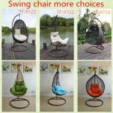手によって制作される全天候用Polycaneの籐椅子の振動卵の形