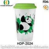 De promotie Plastic Mok van de Koffie met Deksel voor Kerstmis (hdp-2024)
