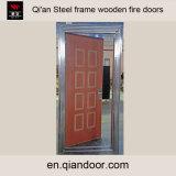 Puerta cortafuego de madera con la puerta del juego del marco doble del acero inoxidable