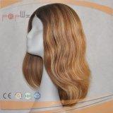 Migliori parrucche ebree mezze superiori di seta brasiliane dei capelli umani 4*4 Handtied