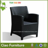 H-Outdoor Round Wicker Chair mit 5cm Cushion