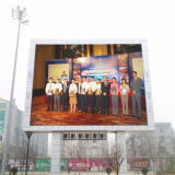 Muestra al aire libre de la visualización de LED P10 del alto brillo