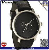 Wristwatch способа человека работы шкалы кожаный планки Brown вахт кварца людей вахты Yxl-913 классицистический большой