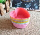 다채로운 Heart-Shaped 실리콘 제품 케이크 컵 형