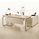 Las últimas Moderno escritorio de la tabla de madera Oficina Ejecutiva Muebles de Oficina (SZ-ODB366)