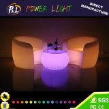Sofa en plastique de barre de lueur extérieure des meubles DEL