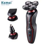 Máquina de afeitar recargable eléctrica lavable 3 de 5 pistas Kemei6183 en 1 máquina de afeitar y condensador de ajuste