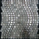 Vivienda Teja Materiales de construcción de pared cristalina de piedra de mármol del mosaico (FYSMG136)