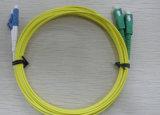 Cordon de connexion duplex recto à plusieurs modes de fonctionnement uni-mode de la fibre optique Sc-LC