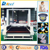 Tessuto della tagliatrice del laser della macchina fotografica del CCD grandi/cuoio/taglierina visivi di marchio/contrassegno/panno