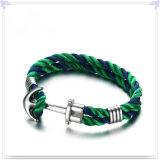 De Armband van het Leer van de Juwelen van het Leer van de Juwelen van het roestvrij staal (LB540)