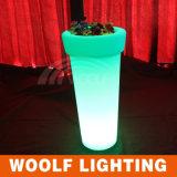 Pot de fleur à haute ronde LED