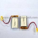 3, 7V 650mAh bateria de lipólise recarregável de iões de lítio