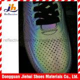 Couro reflexivo colorido do plutônio para sapatas dos esportes