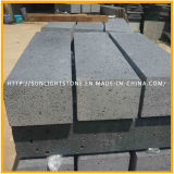 Mattonelle nere smerigliatrice naturali del basalto del Hainan per la pavimentazione e la parete