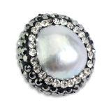 Branello di cristallo dei monili della piccola perla