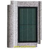 azulejo de azotea solar agitado gris 8W
