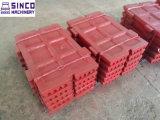 Placa fijada y movible del alto acero de manganeso de Shanbao Sbm de la quijada