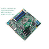 Xeon-E3 cartão-matriz do server do processador central NVR Onboard 8 SATA3.0/4SATA2.0