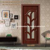 Elegante Blumen-Muster-Glas-Auslegung-hölzerne Tür