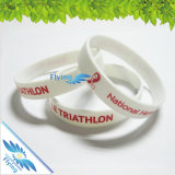 Preiswerterer SilikonWristband des Zoll-Debossed/Embssed/Print
