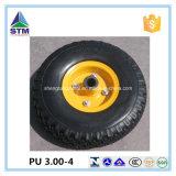 단단한 폴리우레탄 PU 고무 타이어 바퀴 거품에 의하여 채워지는 대형 트럭 트롤리 바퀴