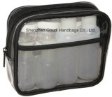 PVC trasparente Travel Toiletry Cosmetic Beauty Bag con Bottles & Jars
