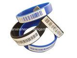 SilikonWristband mit unterschiedlichem Qr Code/2D aztekischem Code/Barcode