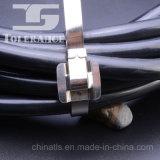 Pvc bedekte Releasable Band van de Kabel van het Roestvrij staal met een laag