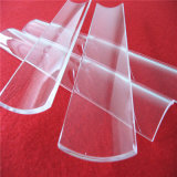 表面の磨く透過半分の円形の水晶ガラス板