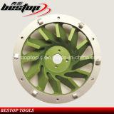 7 roue de meulage de cuvette du professionnel PCD de pouce pour éliminer l'époxy