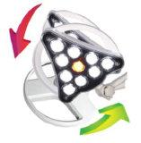 LED Gp를 위한 상한 조명 시설, E.N.T. 안과학, Gynaecology, 극장, 작은 운영 사용을%s 가진 작은 외과 램프 Q10 이동할 수 있는 유형