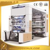 6 Machine van de Druk van het Document van de Aandrijving van de Riem van de Hoge snelheid van de kleur Flexographic