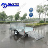 Mesh Ramp를 가진 직류 전기를 통한 Single Axle Box Cage Trailer