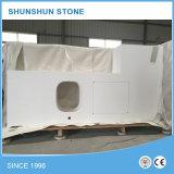 Pedra projetada branca pura de quartzo para bancadas da cozinha