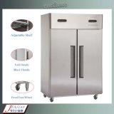Double type réfrigérateur droit de la température d'acier inoxydable de porte de la qualité 2