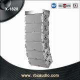 X-1828は双方向の専門ラインアレイ拡声器のオーディオ・システム二倍になる
