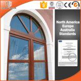 Ventana alto elogiada de la especialidad de madera sólida, trapezoide/circular/triángulo/ventana arqueado/del rectángulo de madera sólida