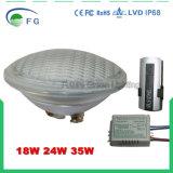 RF 스위치를 가진 100%년 RGB 동시 변경 LED PAR56 수영풀 빛
