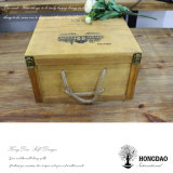 Hongdao Caja de vino de madera de venta caliente para 6 botellas_D