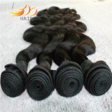 Do Weave Mongolian não processado do cabelo do Virgin 8A da onda do corpo cor natural