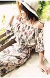 Женщины платье сексуального способа стильные напечатанные, платье лета