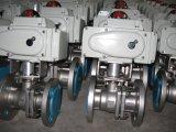 Handrad-pneumatischer Kugelventil-Flansch des Edelstahl-CF8