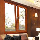 Окно средней восточной стандартной вишни твердой древесины деревянное алюминиевое (FT-W108)