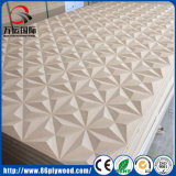 El panel de pared llano grabado Textured decorativo del MDF 3D