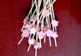 Varas/picaretas/Skewers de bambu descartáveis encantadores do cocktail do BBQ