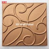 El panel acústico de pared de la PU del panel decorativo de cuero del panel 3D